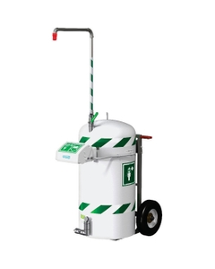 Insulated Mobile Self-Contained Emergency Safety Shower w/ Eyewash Station