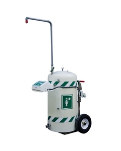 30 Gallon Freeze Protected Mobile Self-Contained Emergency Safety Shower w/ Eyewash Station, 120v, C1D2