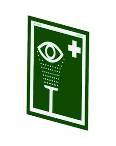 Universal Emergency Eyewash Station Sign For Wall Mounting