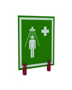 Universal Safety Shower Sign With Brackets, Outdoor Showers w/ Insulation