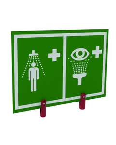 Universal Safety Shower and Eyewash Station Sign w/ Brackets, Outdoor Showers with Insulation