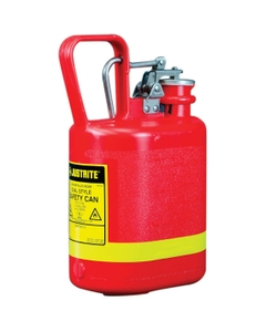 1 Gallon, Polyethylene Type I Safety Can w/Stainless Steel Hardware, Red, Oval