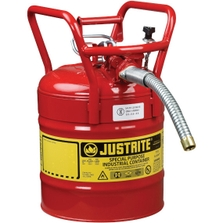 """5 Gallon, Steel Type II DOT Safety Can, 1"""" Dia. Hose, Red_1"""