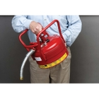 """2.5 Gallon, Type II DOT Steel Safety Can, w/1"""" Dia. Hose for Flammables, Red"""