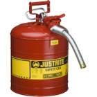 """5 Gallon, Type II Steel Safety Can, 1"""" Dia. Hose, Red"""