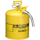 """5 Gallon, Type II Steel Safety Can, 1"""" Dia. Hose, Yellow"""