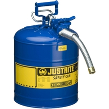 """5 Gallon, Type II Steel Safety Can, 1"""" Dia. Hose, Blue"""