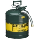 """5 Gallon, Type II Steel Safety Can, 1"""" Dia. Hose, Green"""