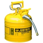 """2 Gallon, Type II Steel Safety Can, 5/8"""" Dia. Hose, Yellow"""