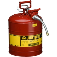 """5 Gallon, Type II Steel Safety Can, 5/8"""" Dia. Hose, Red"""
