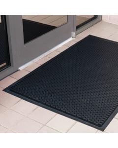 3' x 5' Black Rubber Entrance Mat