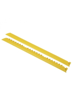 3' Yellow Interlocking Anti-Fatigue Mat Ramp, Male