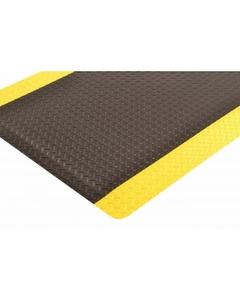 "3' x 5' Black/Yellow Anti-Fatigue Mat, 9/16"" Thick pattern"