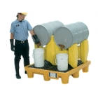 2-Drum Rack Containment System, With Drain - UltraTech 2384