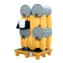 4-Drum Rack Containment System, With Drain - UltraTech 2381