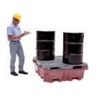 4-Drum Ultra-Spill King® Spill Pallet & Sump, No Drain