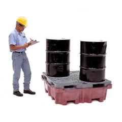 4-Drum Ultra-Spill King® Spill Pallet & Sump, w/ Drain