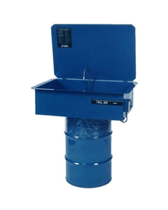 B-Clean™ Drum Mounted Solvent Parts Washer, Recirculating, w/30 Gallon Steel Drum