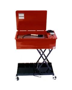 Mobile Adjustable Height Solvent Brake Washer, Recirculating, Flow-Thru Brush Assembly