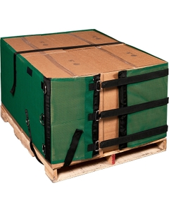2' Reusable Pallet Wrap Cover, Heavy Duty w/ Corner Pallet Straps