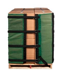 4' Reusable Pallet Wrap Cover, Heavy Duty w/ Corner Pallet Straps
