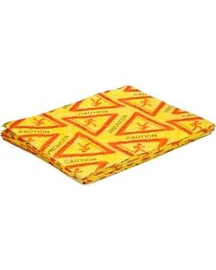 "15"" x 18"" 1 Sided Caution Hazmat Absorbent Pads, Spunbond, Yellow (100 pads/bag)"