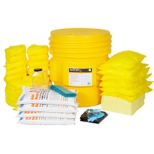 65 Gallon Acid Spill Kit in Overpack Salvage Drum w/CHEMSORB® AN - Acid Neutralizing Spill Absorbent
