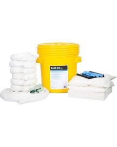 20 Gallon Oil-Only Spill Kit in Overpack Salvage Drum