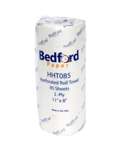 """Paper Towels, 2-Ply, 85 Sheets/Roll, 8"""" W x 11"""" H Sheet Size"""