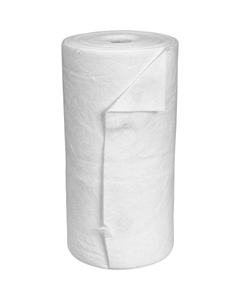 """30"""" x 150' Heavy-Weight Oil-Only Absorbent Roll, Meltblown, White (1 roll/bag)"""