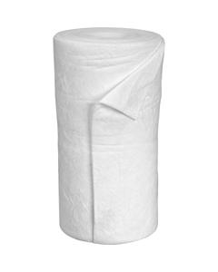 "30"" x 150' Medium-Weight Oil-Only Absorbent Roll, Meltblown, White (1 roll/bag)"