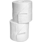 """15"""" x 150' Heavy-Weight Oil-Only Absorbent Split Rolls, Sonic Bonded, White (2 rolls/bag)"""
