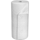 """30"""" x 150' Medium-Weight Oil-Only Absorbent Roll, Sonic Bonded, White (1 roll/bag)"""