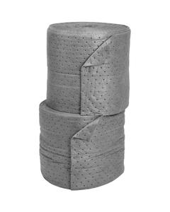 "15"" x 150' Medium-Weight Univ. Absorbent Split Rolls, Laminated, Gray (2 rolls/bag)"