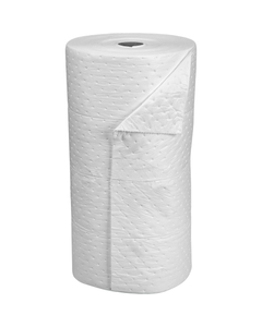 """30"""" x 150' Heavy-Weight Oil-Only Absorbent Roll, Fine Fiber White (1 roll/bag)"""
