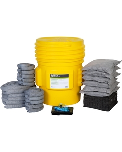 65 Gallon Universal Spill Kit in Overpack Salvage Drum