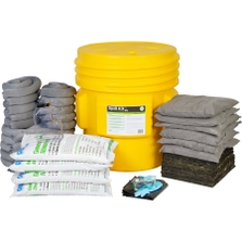 65 Gallon Universal Spill Kit in Overpack Salvage Drum w/CHEMSORB® GA - General Spill Absorbent