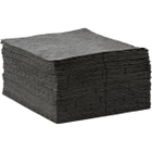 """15"""" x 18"""" Light-Weight Universal Absorbent Pads, Sonic Bonded, Gray (200 pads/bag)"""