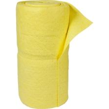"""30"""" x 150' Hazmat Yellow Heavy Sonic Bonded Absorbent Rolls"""