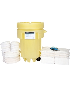 95 Gallon Oil-Only Spill Kit in Overpack Salvage Drum on Wheels