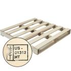 """40"""" x 40"""" Heat Treated Wood Pallet, 2,500 lb. Capacity"""
