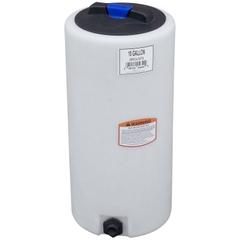 10 Gallon White HDPE Vertical Storage Tank
