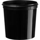 Superfos® 34 oz. Black PP Plastic Flex-off Container L500