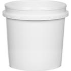 Superfos® 1 Quart (32 oz.) White HDPE Plastic Vapor Lock Container, L406
