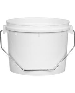 Superfos® 1/2 Gallon (64 oz.) White HDPE Plastic Vapor Lock Container, L604