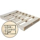 """47"""" x 32"""" Heat Treated Wood Pallet, 5,000 lb. Capacity"""