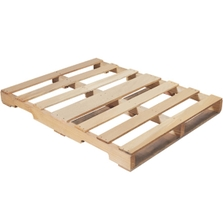 """48"""" x 36"""" Recycled Wood Pallet, 4-Way Fork Access, 1,500 lb. Capacity"""
