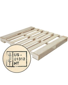 """48"""" x 40"""" Recycled Heat Treated Wood Pallet, 4-Way Fork Access, 2,500 lb. Capacity"""