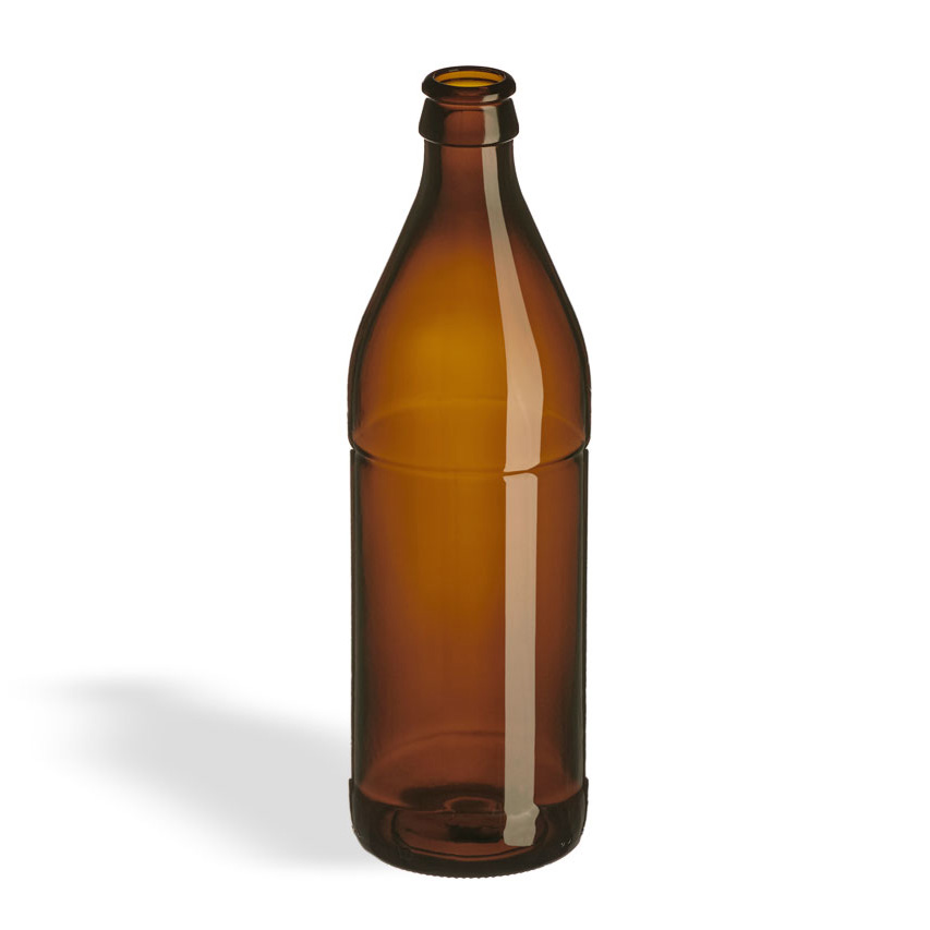 500ml (16.9 oz.) Amber EURO Beer Bottle, Pry-Off - The ...