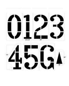 "Football Field Stencil Kit, 72"" High, 1/8"" Thick"